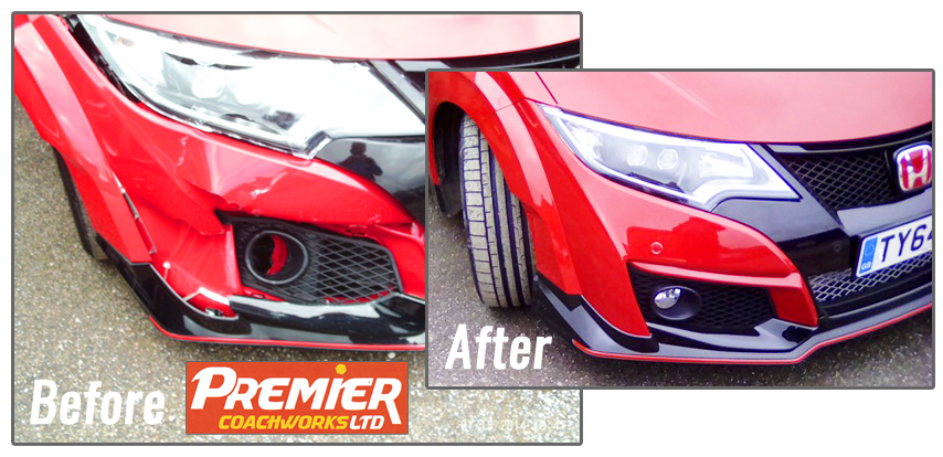 Honda bodywork and bumper accident repairs by Premier Coachworks