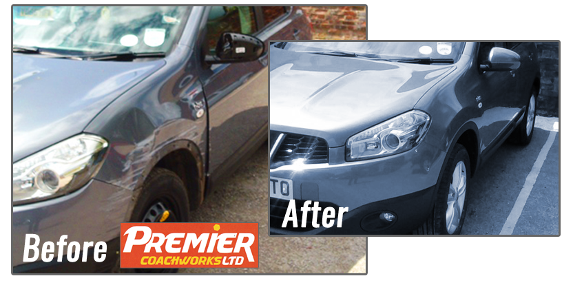Accident Repair to Qashqai bodywork by Premier Coachworks
