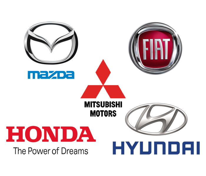 We're Approved Repairers For Mazda Fiat Honda Hyundai and Mitsubishi